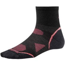 SmartWool PhD Cycle Ultra Light Mini Socks - Merino Wool (For Women) in Black - 2nds