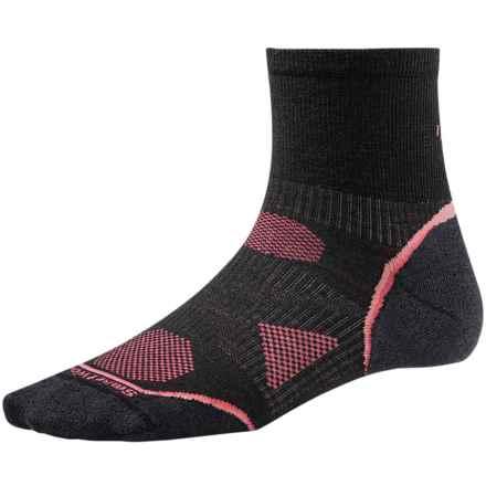 SmartWool PhD Cycle Ultra Light Mini Socks - Merino Wool (For Women) in Black - 2nds
