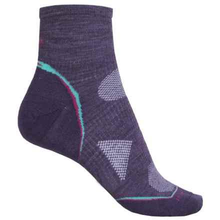 SmartWool PhD Cycle Ultra Light Mini Socks - Merino Wool (For Women) in Desert Purple - 2nds