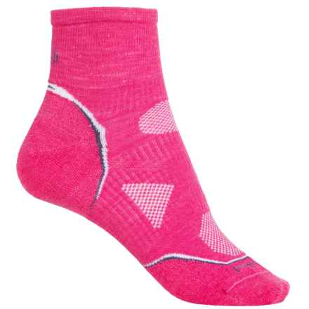 SmartWool PhD Cycle Ultraligh Ankle Socks - Merino Wool (For Women) in Bright Pink - 2nds