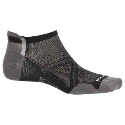 SmartWool PhD Cycle Ultralight Micro Socks -  Merino Wool, Below the Ankle (For Men) in Black - 2nds