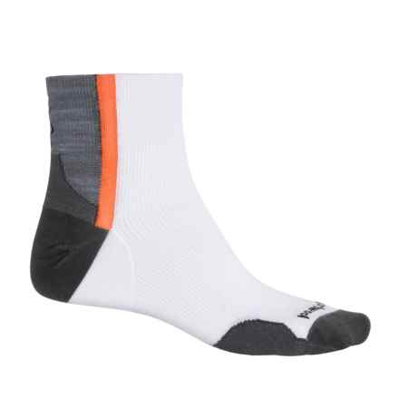 SmartWool PhD Cycle Ultralight Mini Cycling Socks - Quarter Crew (For Men and Women) in White - Closeouts