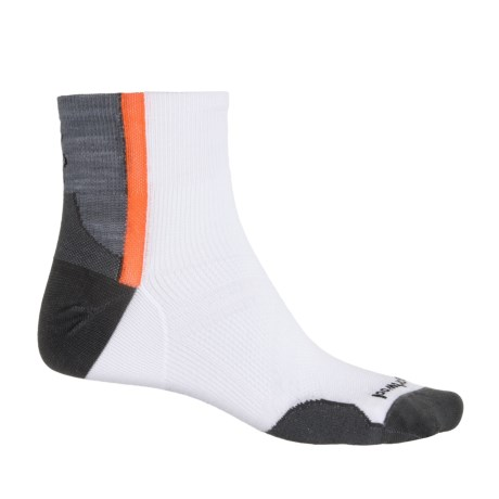 SmartWool PhD Cycle Ultralight Mini Cycling Socks - Quarter Crew (For Men and Women) in White