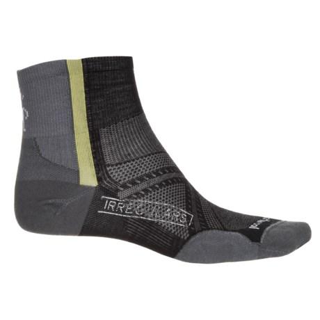 SmartWool PhD Cycle Ultralight Mini Socks - Quarter Crew (For Men and Women) in Black