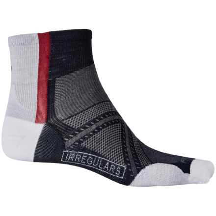 SmartWool PhD Cycle Ultralight Mini Socks - Quarter Crew (For Men and Women) in Deep Navy - 2nds
