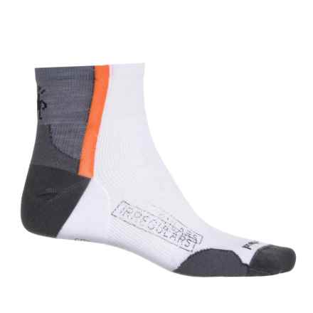 SmartWool PhD Cycle Ultralight Mini Socks - Quarter Crew (For Men and Women) in White - 2nds