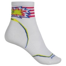 SmartWool PhD Cycle Ultralight Pattern Socks - Merino Wool, Ankle (Women) in White - Closeouts