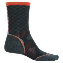 SmartWool PhD Cycle Ultralight Pattern Socks - Merino Wool, Crew (For Men and Women) in Black - Closeouts