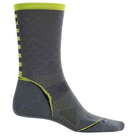 SmartWool PhD Cycle Ultralight Pattern Socks - Merino Wool, Crew (For Men and Women) in Graphite - Closeouts