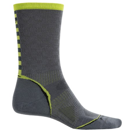 SmartWool PhD Cycle Ultralight Pattern Socks - Merino Wool, Crew (For Men and Women) in Graphite