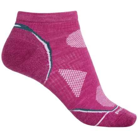 SmartWool PhD Cycle Ultralight Socks - Merino Wool, Below the Ankle (For Women) in Berry/Deep Sea - 2nds