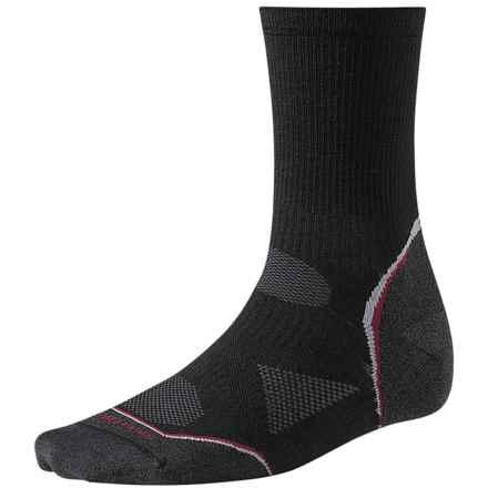 SmartWool PhD Cycle Ultralight Socks - Merino Wool-Nylon, 3/4 Crew (For Men and Women) in Black - 2nds