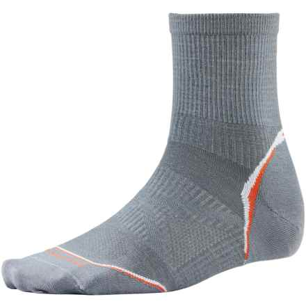 SmartWool PhD Cycle Ultralight Socks - Merino Wool-Nylon, 3/4 Crew (For Men and Women) in Graphite - 2nds