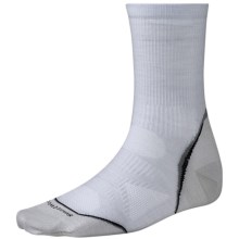 SmartWool PhD Cycle Ultralight Socks - Merino Wool-Nylon, 3/4 Crew (For Men and Women) in Silver - 2nds