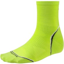 SmartWool PhD Cycle Ultralight Socks - Merino Wool-Nylon, 3/4 Crew (For Men and Women) in Smartwool Green - 2nds