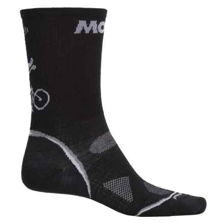 SmartWool PhD Cycle Ultralight Socks  - Merino Wool-Nylon, Crew (For Men and Women) in Black - Closeouts