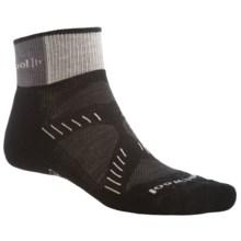 SmartWool PhD Cycling Mini Socks - Merino Wool, Lightweight (For Women) in Black/Silver - 2nds