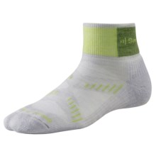 SmartWool PhD Cycling Mini Socks - Merino Wool, Lightweight (For Women) in Silver/Key Lime - 2nds