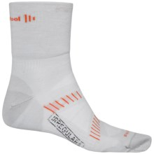 SmartWool PhD Cycling Socks - Merino Wool, 3/4 Crew (For Men) in Silver/Black - 2nds