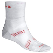 SmartWool PhD Cycling Socks - Merino Wool, Ultra Light Cushion, 3/4 Crew (For Men) in Silver/Tangerine - 2nds