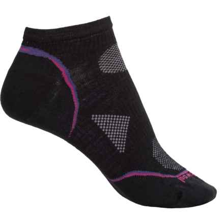 SmartWool PhD Cycling Ultralight Socks - Merino Wool, Below the Ankle (For Women) in Black - Closeouts