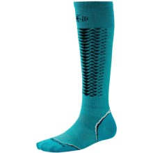 SmartWool PhD Downhill Racer Ski Socks - Merino Wool, (For Men and Women) in Capri - Closeouts