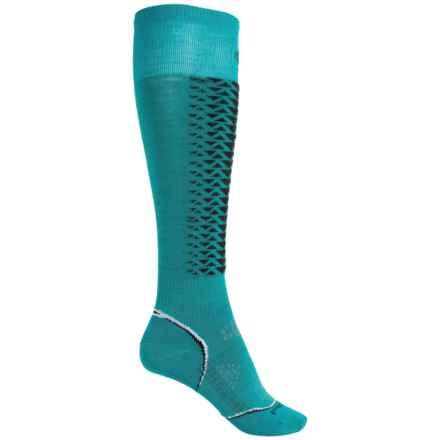 SmartWool PhD Downhill Racer Ski Socks - Merino Wool, Over the Calf (For Women) in Capri - 2nds