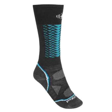 SmartWool PhD Downhill Racer Socks - Merino Wool, Over the Calf (For Men and Women) in Black - 2nds