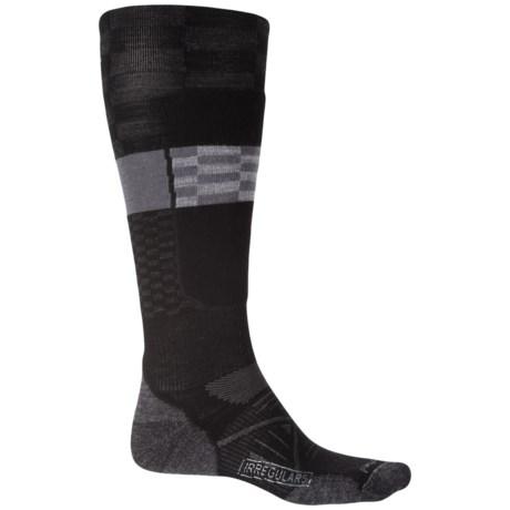 SmartWool PhD Elite Ski Socks - Merino Wool, Over the Calf (For Men and Women) in Black