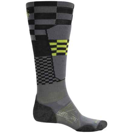 SmartWool PhD Elite Ski Socks - Merino Wool, Over the Calf (For Men and Women) in Graphite - 2nds