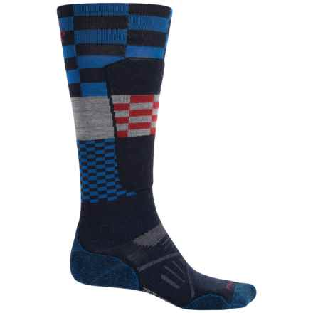 SmartWool PhD Elite Ski Socks - Merino Wool, Over the Calf (For Men and Women) in Navy - 2nds