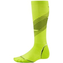SmartWool PhD Graduated Compression Pattern Socks - Merino Wool, Over the Calf (For Men and Women) in Smartwool Green - Closeouts