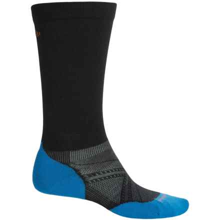 SmartWool PhD Graduated Compression Ski Socks - Merino Wool, Over the Calf (For Men and Women) in Black - 2nds