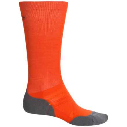 SmartWool PhD Graduated Compression Ski Socks - Merino Wool, Over the Calf (For Men and Women) in Bright Orange - 2nds