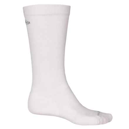 SmartWool PhD Graduated Compression Ski Socks - Merino Wool, Over the Calf (For Men and Women) in White - 2nds