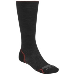 SmartWool PhD Graduated Compression Socks - Merino Wool (For Men and Women) in Black/Red