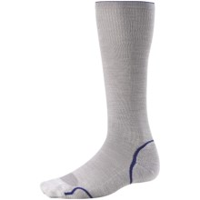 SmartWool PhD Graduated Compression Socks - Merino Wool (For Men and Women) in Silver/Royal - 2nds