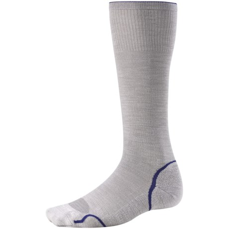 SmartWool PhD Graduated Compression Socks - Merino Wool (For Men and Women) in Silver/Royal