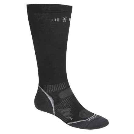 SmartWool PhD Graduated Compression Socks - Merino Wool, Over the Calf (For Men and Women) in Black - 2nds
