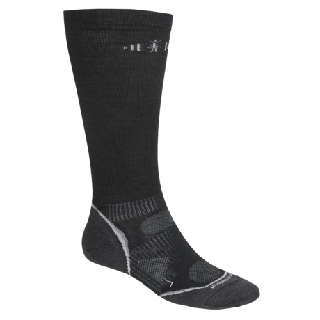 SmartWool PhD Graduated Compression Socks - Merino Wool, Over the Calf (For Men and Women) in Black