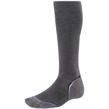 SmartWool PhD Graduated Compression Socks - Merino Wool, Over the Calf (For Men and Women) in Graphite/White - Closeouts