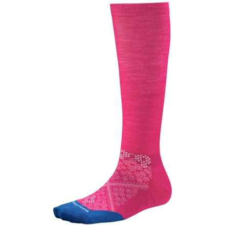 SmartWool PhD Graduated Compression Socks - Merino Wool, Over the Calf (For Women) in Bright Pink - Closeouts