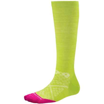 SmartWool PhD Graduated Compression Socks - Merino Wool, Over the Calf (For Women) in Smartwool Green - Closeouts