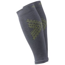 SmartWool PhD Graduated Compression Thermal Calf Sleeve - Merino Wool (For Men and Women) in Graphite - Closeouts