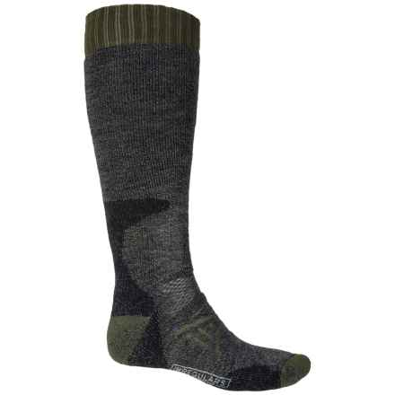 SmartWool PhD Hunt Heavy Socks - Merin Wool, Over the Calf (For Men and Women) in Black - 2nds