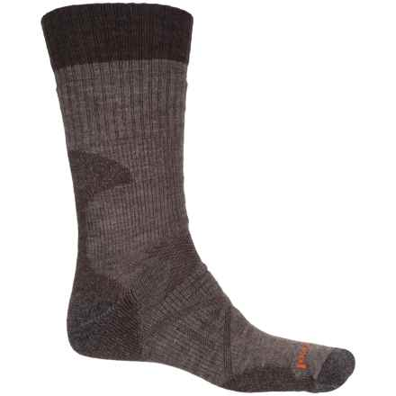 SmartWool PhD Hunting Socks - Merino Wool, Crew (For Men) in Taupe - 2nds