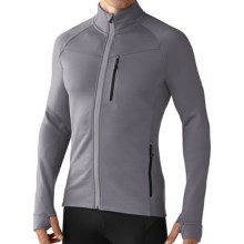 SmartWool PhD HyFi Base Layer Top - Merino Wool, Full Zip, Long Sleeve (For Men) in Alloy - Closeouts