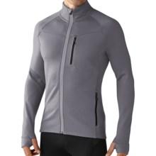 SmartWool PhD HyFi Base Layer Top - Merino Wool, Full Zip, Long Sleeve (For Men) in Alloy - Closeouts