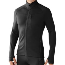 SmartWool PhD HyFi Base Layer Top - Merino Wool, Full Zip, Long Sleeve (For Men) in Black - Closeouts
