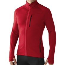 SmartWool PhD HyFi Base Layer Top - Merino Wool, Full Zip, Long Sleeve (For Men) in Bright Red - Closeouts